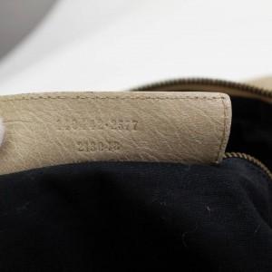 Balenciaga Hobo 866576 The Day One Beige Leather Shoulder Bag