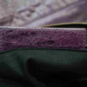 Balenciaga Purple The Day Leather Hobo Bag 867054