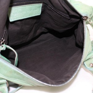 Balenciaga Mint Twiggy 2way Boston 868287 Green Leather Shoulder Bag