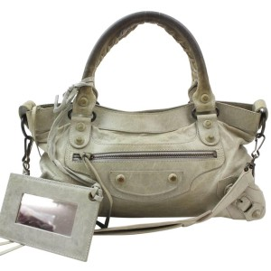 Balenciaga Pale The First 2way 869753 Green Leather Shoulder Bag