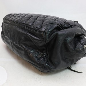 Balenciaga Quilted Boston 870741 Black Leather Satchel