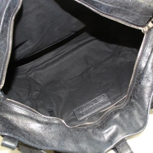 Balenciaga Squash 2way 869986 Black Leather Satchel
