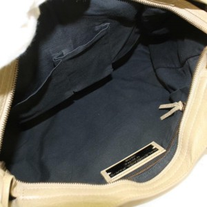 Balenciaga The City 2way 869864 Beige Leather Satchel
