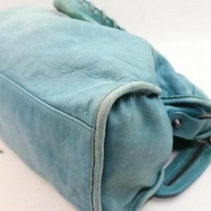 Balenciaga The City 2way 872835 Light Blue Leather Shoulder Bag
