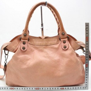 Balenciaga The Town 2way 865676 Pink Leather Shoulder Bag