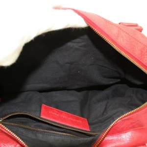 Balenciaga Twiggy 2way 870065 Red Leather Shoulder Bag