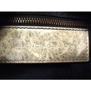 Balenciaga Two-way City 207685 Khaki Leather Satchel
