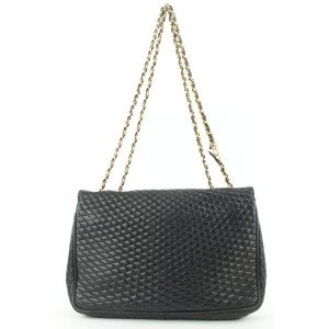 Bally Black Quilted Leather Crossbody Chain Flap Bag 200by29