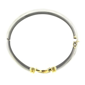 18k White And Yellow Gold Contemporary Citra Sapphire Bracelet