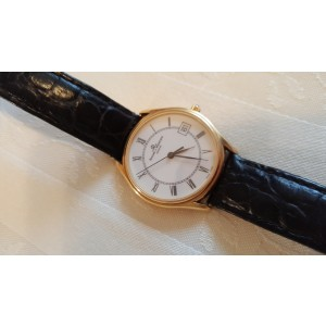 Baume & Mercier Classima 95248 14K Yellow Gold and Black Crocodile Leather Band 32mm Watch