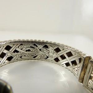 John Hardy Sterling Silver Wide Bedeg Cuff Bracelet