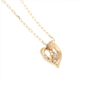 4C 18k pink Gold Diamond Necklace