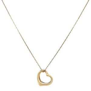 Tiffany & Co. 18k Gold Elsa Peretti Open Heart Necklace