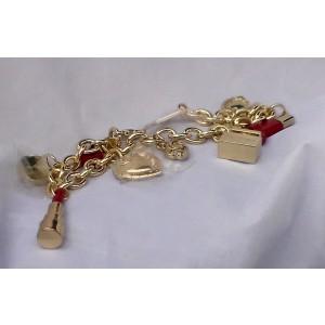 Dolce & Gabbana Gold-Tone Metal Charm Bracelet