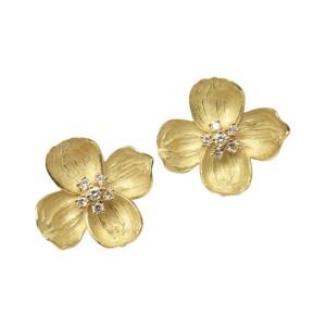 Tiffany & Co. Vintage 18K Yellow Gold Diamond Earrings