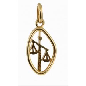 Boucheron 18K Yellow Gold Libra Zodiac Pendant