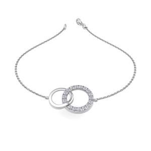 GLAM ® Bracelet In 18K Gold with 0.52ct White Diamonds