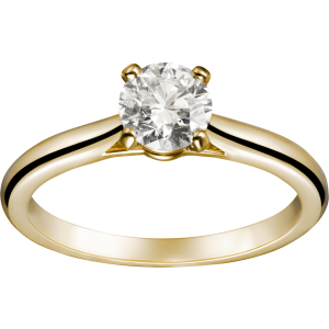 Cartier 1895 Solitaire 18K Yellow Gold With 0.50ct. Diamond Ring Size 7