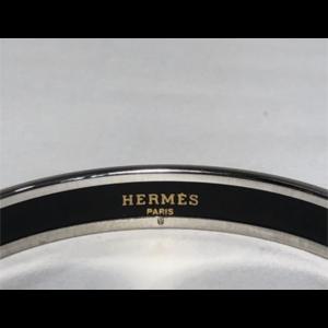 Hermes Enamel and Palladium Bangle Bracelet