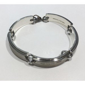 Tiffany & Co. 1837 Titanium and Sterling Silver link bracelet