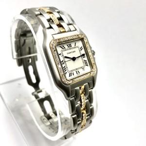CARTIER PANTHERE 27mm Quartz 18K Yellow Gold & Steel DIAMOND Ladies Watch
