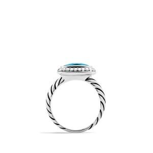 David Yurman Women's Noblesse Ring with Hampton Blue Topaz and Diamonds