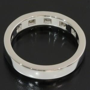 Bvlgari Bulgari Marryme 5P Diamonds Wedding Ring Platinum 950 US4.25