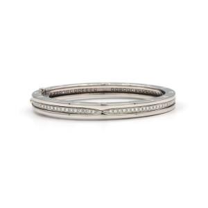 Bulgari B.zero 1 Diamond Bangle Bracelet In 18 Karat White Gold