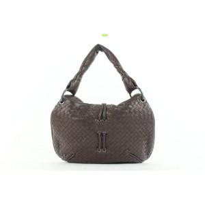 Bottega Veneta Brown Intrecciato Leather Hobo Bag 269bot512