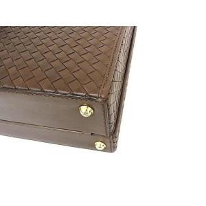 Bottega Veneta Attache Briefcase Interwoven 239240 Brown Leather Laptop Bag