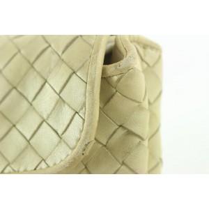 Bottega Veneta Cream Intrecciato Woven Leather Mini Pouch Crossbody Bag 10bot421