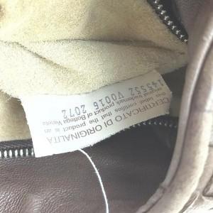 Bottega Veneta Brown Leather Intrecciato Hobo Shoulder Bag 863075