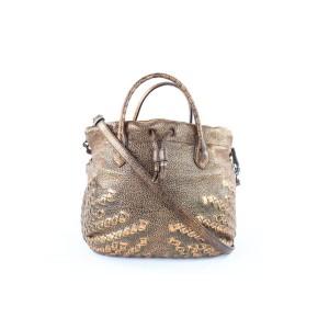 "Bottega Veneta Crossbody Hobo ""Intrecciato"" Braided Convertible 2way 14mj1019 Bronze Leather Shoulder Bag"