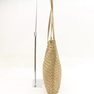Bottega Veneta Intrecciato Woven 865603 Gold Leather Shoulder Bag
