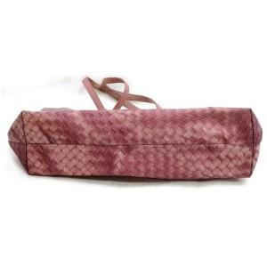 Bottega Veneta Intreccio Woven Shopper 872373 Pink Nylon Tote