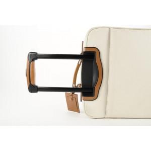Bottega Veneta Off-White Rolling Luggage Tolley Suitcase 381bot225