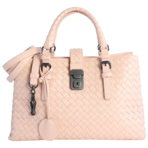Bottega Veneta Small Roma 2way 4mz0828 Pink Leather Cross Body Bag