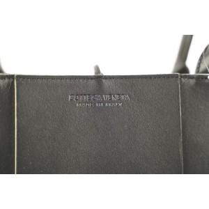 Bottega Veneta Black White Arco Woven East-West Tote bag 473bot34