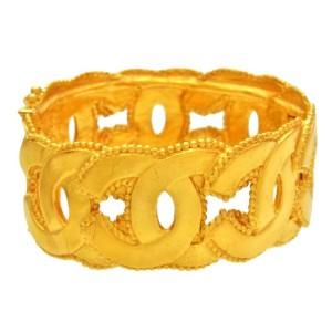 Chanel Gold Tone Metal Bracelet
