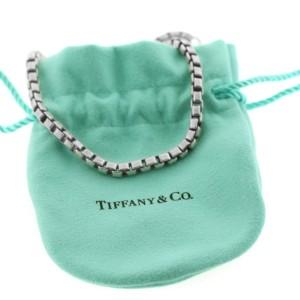 Tiffany & Co Sterling Silver Venetian Square Box Chain Link Bracelet