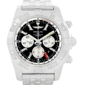 Breitling Chronomat GMT AB0410 Stainless Steel Black Dial 47mm Mens Watch
