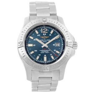 636867b98f7 Breitling Colt A17388 Stainless Steel & Blue Baton Dial Automatic 44mm Mens  Watch | Breitling | Buy at TrueFacet