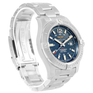 7f2d641d090 Breitling Colt A17388 Stainless Steel & Blue Baton Dial Automatic 44mm Mens  Watch