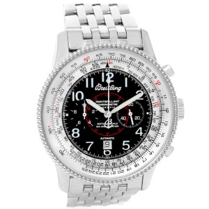 Breitling Navitimer Montbrillant A35330 Stainless Steel Automatic 41 5mm Mens Watch
