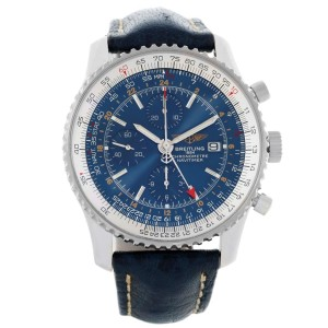 7d5ea0bbf Breitling Navitimer World Chrono GMT A24322 Stainless Steel Blue Dial 46mm  Mens Watch
