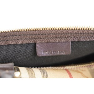 Burberry Beige Nova Check Boston Duffle Bag with Strap 304bur217