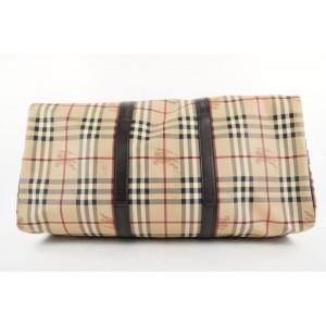 Burberry Beige Nova Check Boston Duffle Bag with Strap 304bur217
