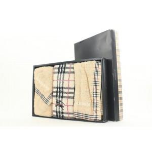 Burberry Beige Nova Check Three Towel Set 16bur112