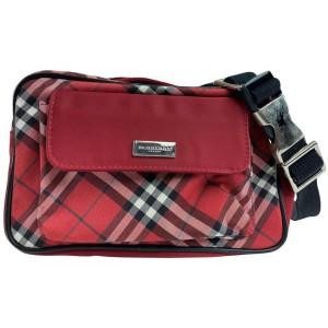 Burberry Red Nova Check Fanny Pack Belt Bag Waist Pouch 857610