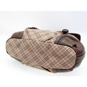 Burberry Blue Label Flap Bag Nova Check 2way 232549 Brown Canvas Satchel